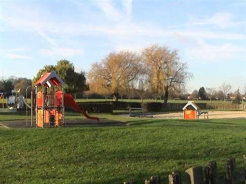 Cheam Park playground and playing fields