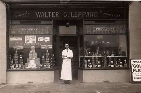 Walter G. Leppard grocer Cheam