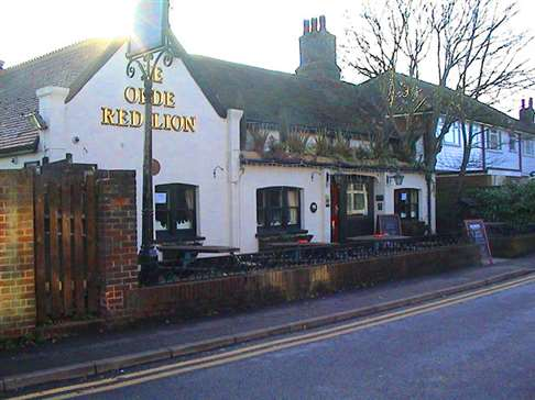 Ye Olde Red Lion, Cheam, Winter 2008